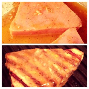 garlic lime swordfish