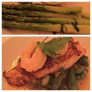 cajun cod & asparagus
